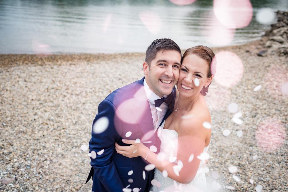 Brautpaar-Lachen