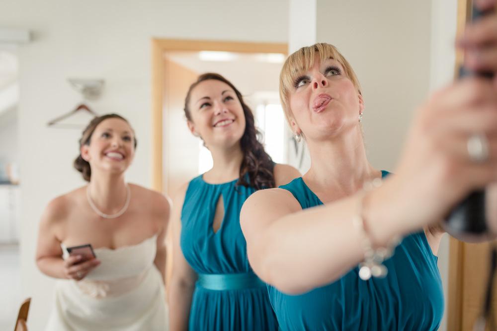Selfie mit Braut