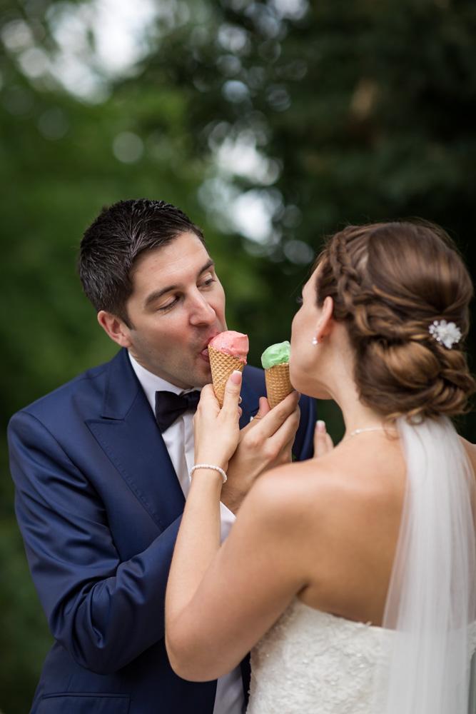 Eis an der Hochzeit